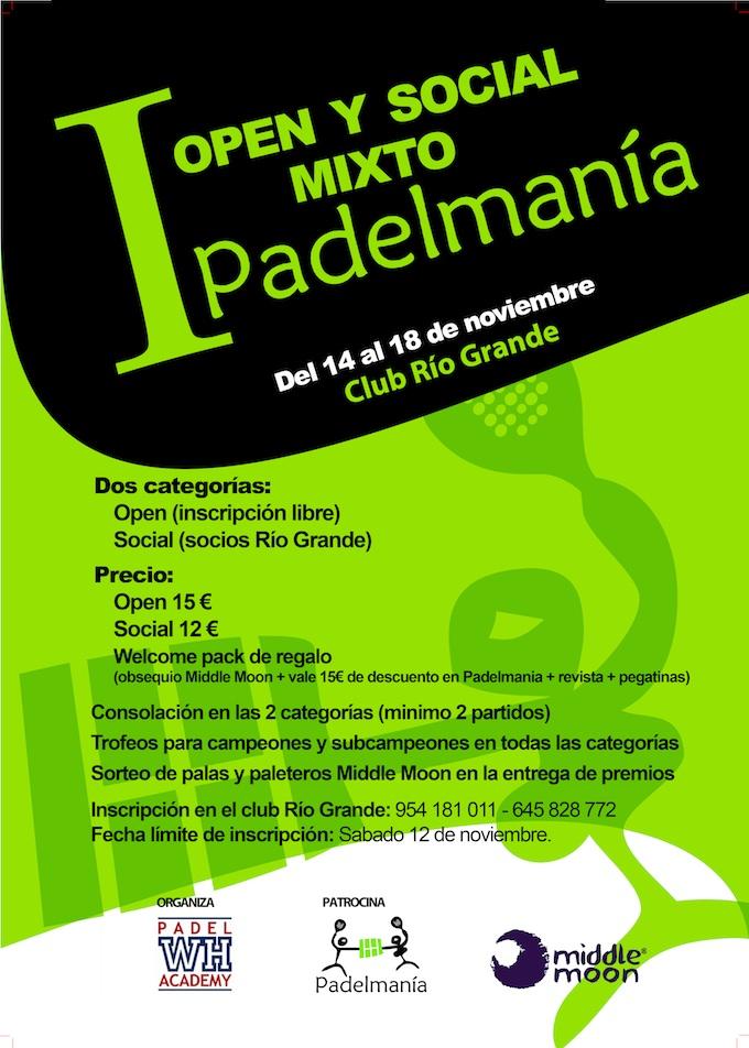 Primer open y social mixto Padelmania