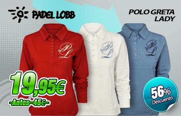 precios ropa polos padel lobb polo m/l greta lady